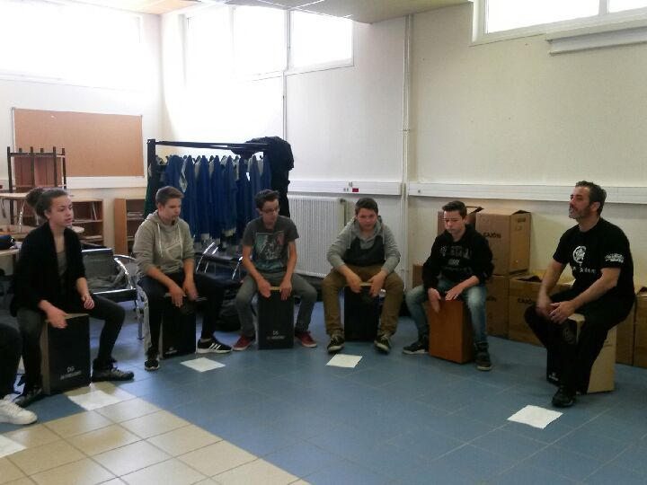 intervention cajon ecole college lycee nord pas de calais picardie france iberica
