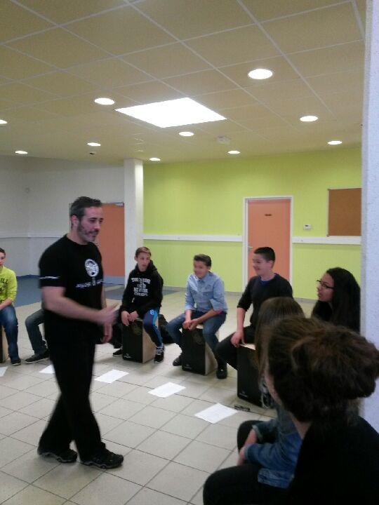 intervention cajon flamenco ecole college lycee nord pas de calais picardie france iberica
