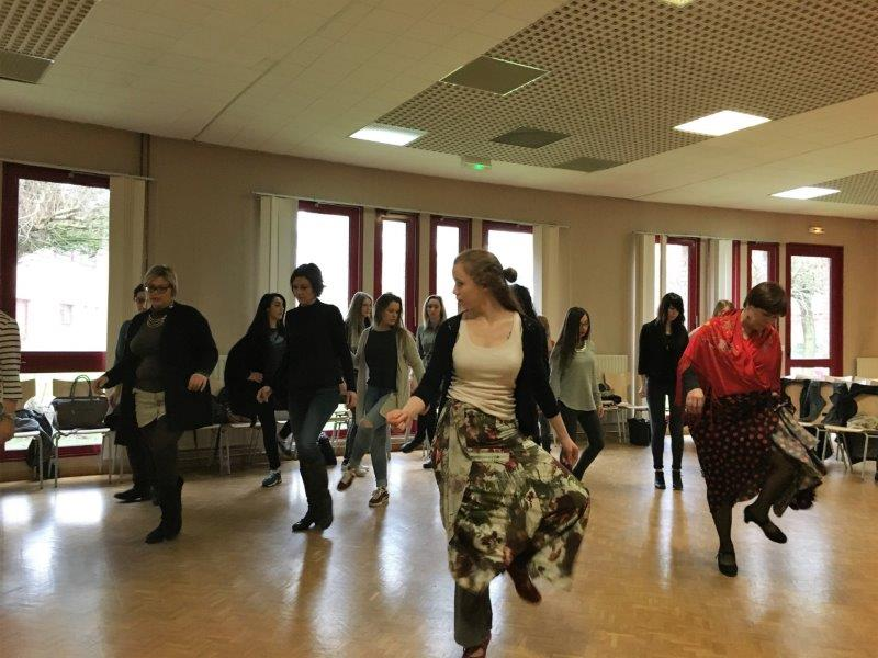 intervention flamenco ecole college lycee nord pas de calais picardie france iberica danse flamenco