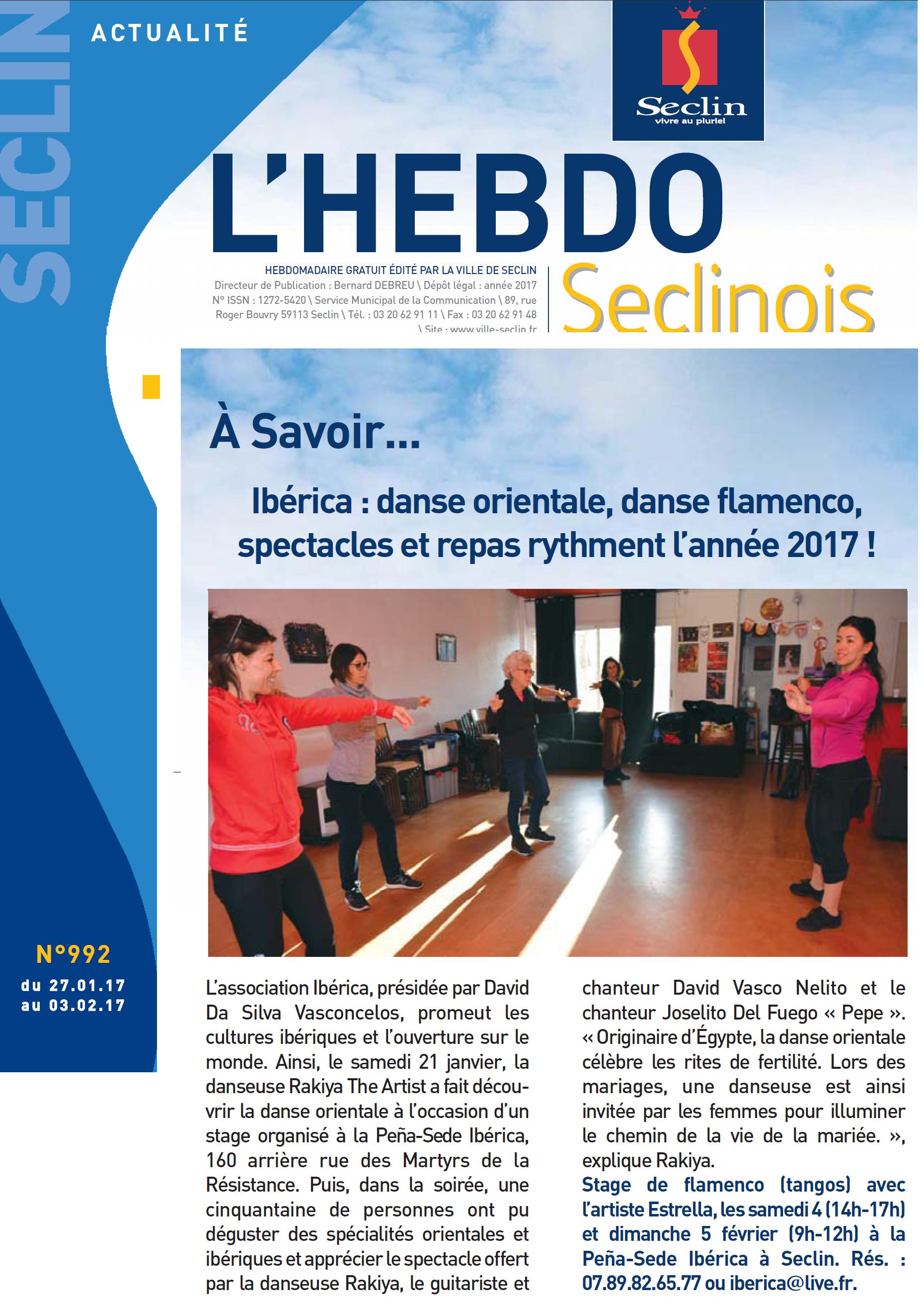 17 01 21 - Hebdo - Ibéric'oriental