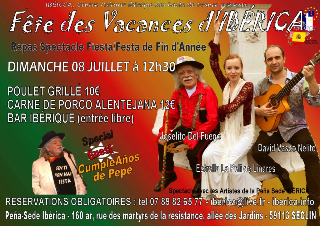 flamenco gypsy seclin lille repas portugais espagnol Nord pas de calais