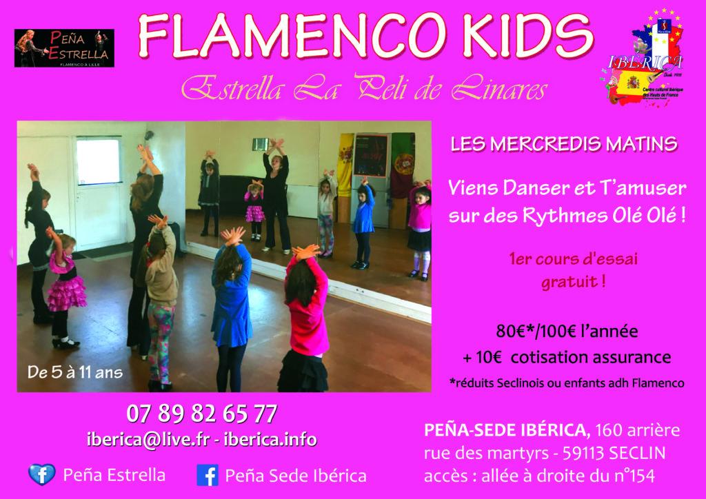 Flamenco enfants Lille Nord Seclin Hauts de France