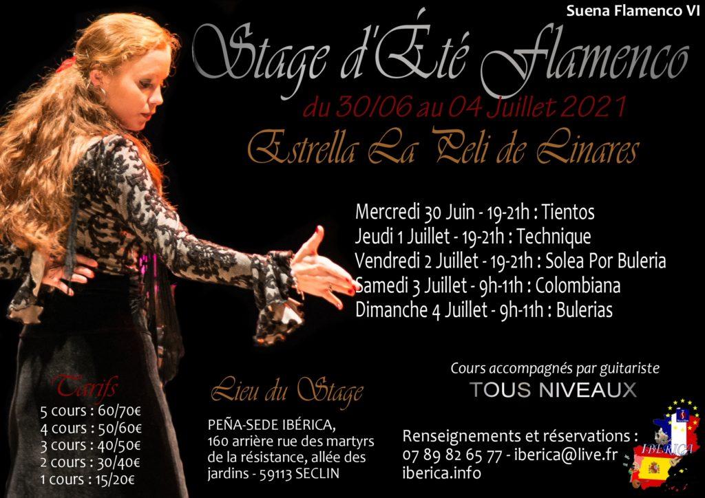 Stage Flamenco Danse Seclin Lille Nord pas de Calais Hauts de France avec Estrella La Peli