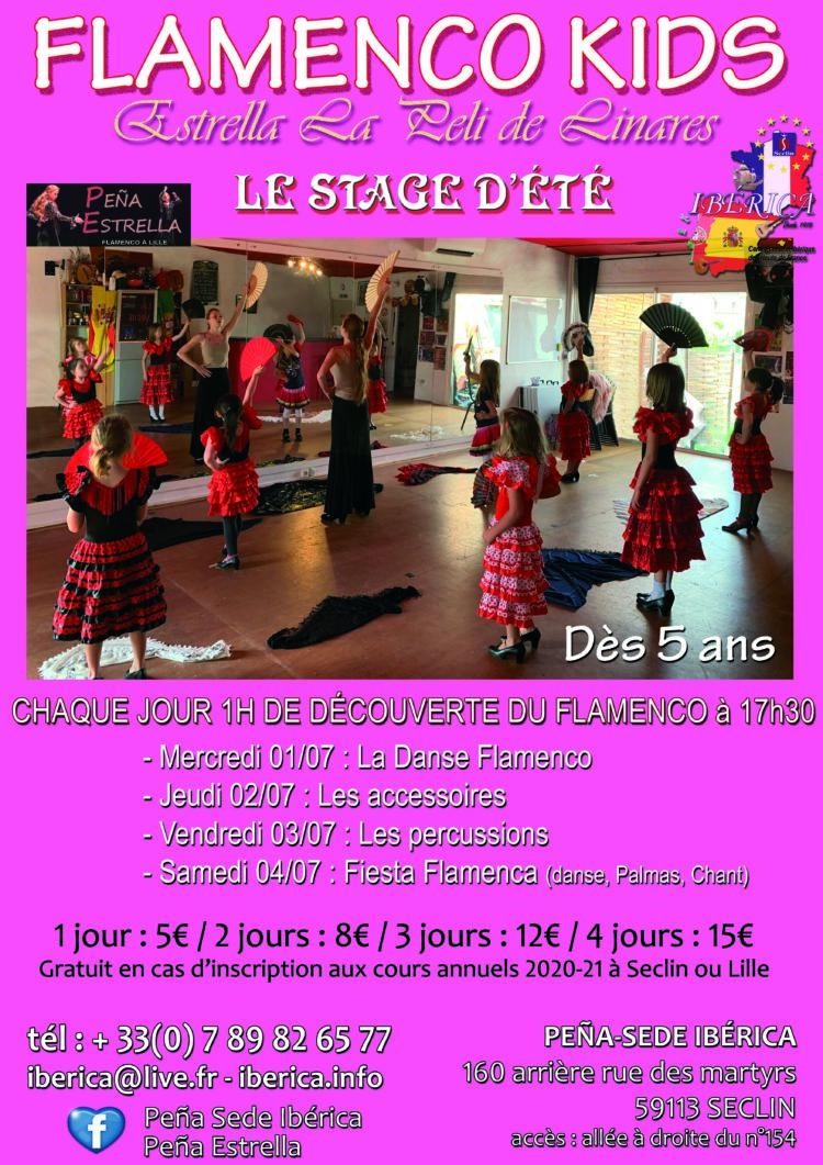 stage Flamenco danse enfants lille nord pas de calais picardie Hauts de France peña estrella