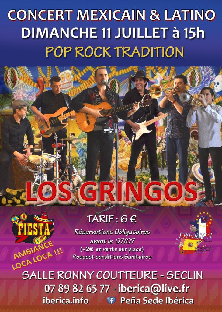 concert pop rock latino tradition Mexicaine lille Nord pas de Calais Picardie Hauts France Los Gringos