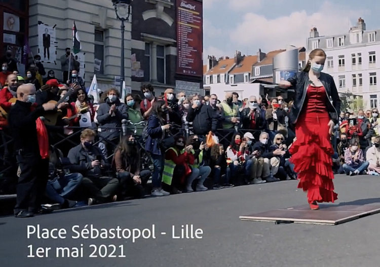 Flamenco gypsy Lille 1er mai Manifestation Danser encore Seguir Bailando #flamencolille